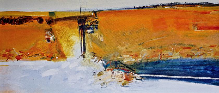 'Desert diggings II' 137 x 60cm SOLD
