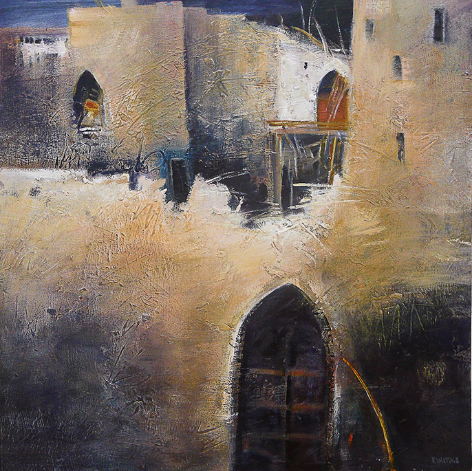'Tamnougalt ruins' 96 x 96cm